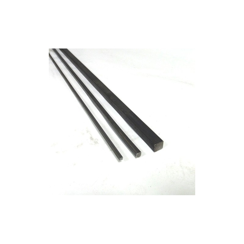 schwarz Vierkantstahl Quadratstahl 6mm x 6mm 1000mm roh