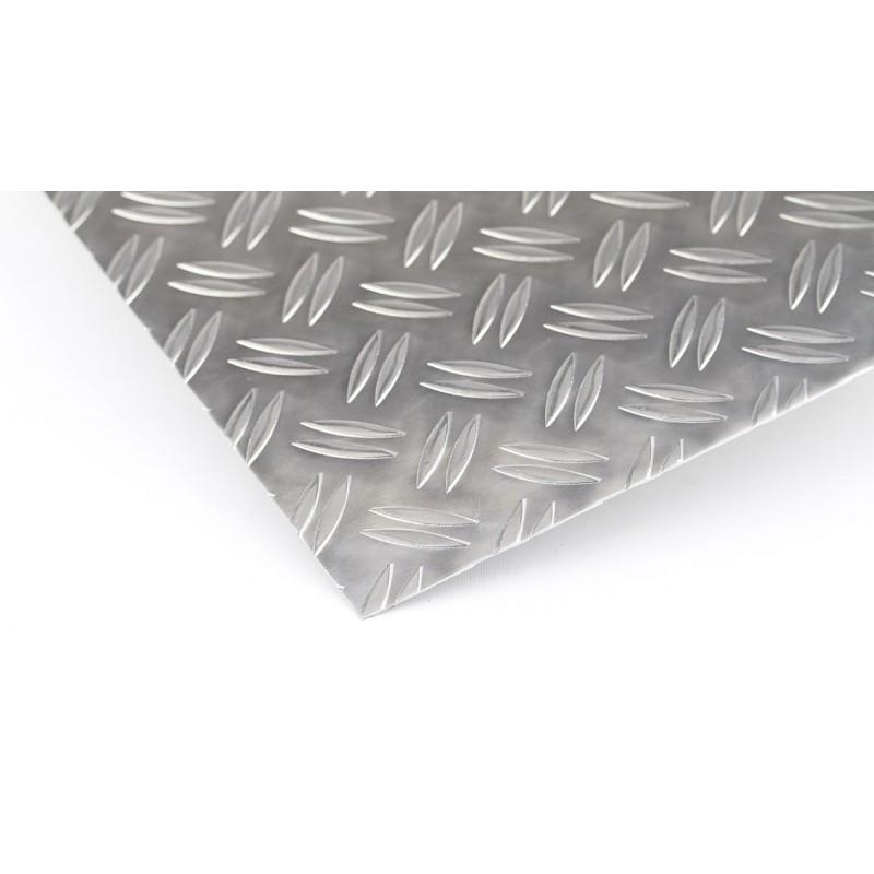 riffelblech duett aluminium tr nenblech zuschnitt alu blech 2 5 4 1000mm gloger metall. Black Bedroom Furniture Sets. Home Design Ideas