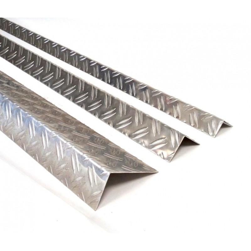riffelblech duett kantenschutz aluminium winkel eckschutzschiene 1 5 2 2000mm gloger metall. Black Bedroom Furniture Sets. Home Design Ideas